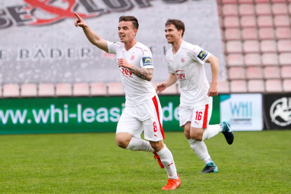 Christian Mauersberger erzielte in der 20. Minute den Ausgleich für Zwickau.