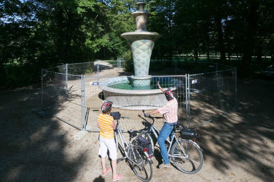 Bei den Besuchern des Großen Gartens ist das besondere Werk von Hans Poelzig  sehr beliebt.