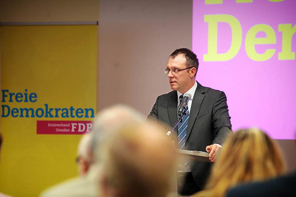 Holger Hase, Chef der Dresdner FDP