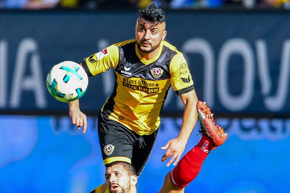 Gegen den FC Ingolstadt führte Aias Aosman im Mittelfeld der Dynamos Regie.