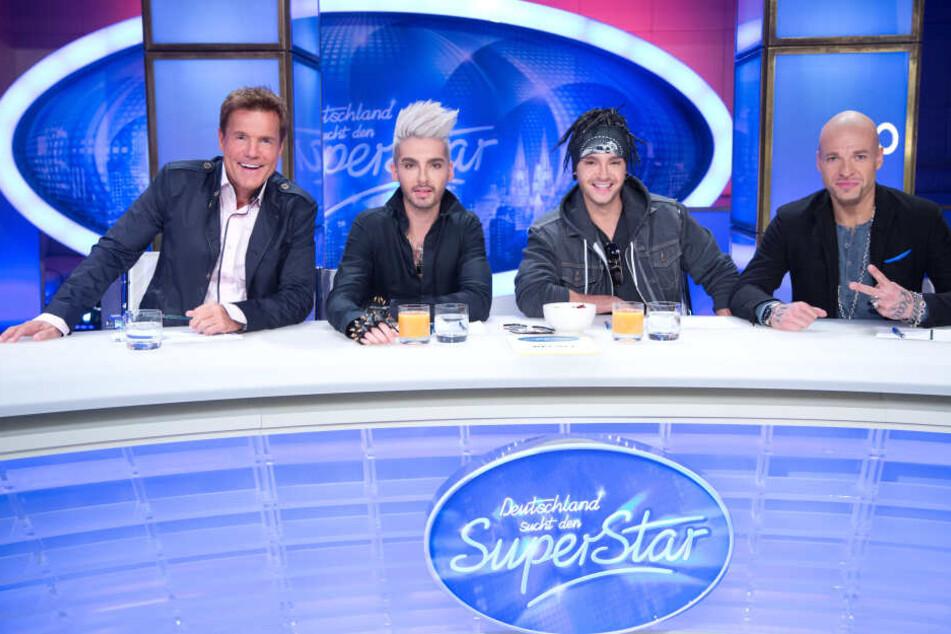 2013 saßen Bill und Tom Kaulitz neben Dieter Bohlen (l.) und Culcha-Candela-Sänger Mateo (r.) in der DSDS-Jury.
