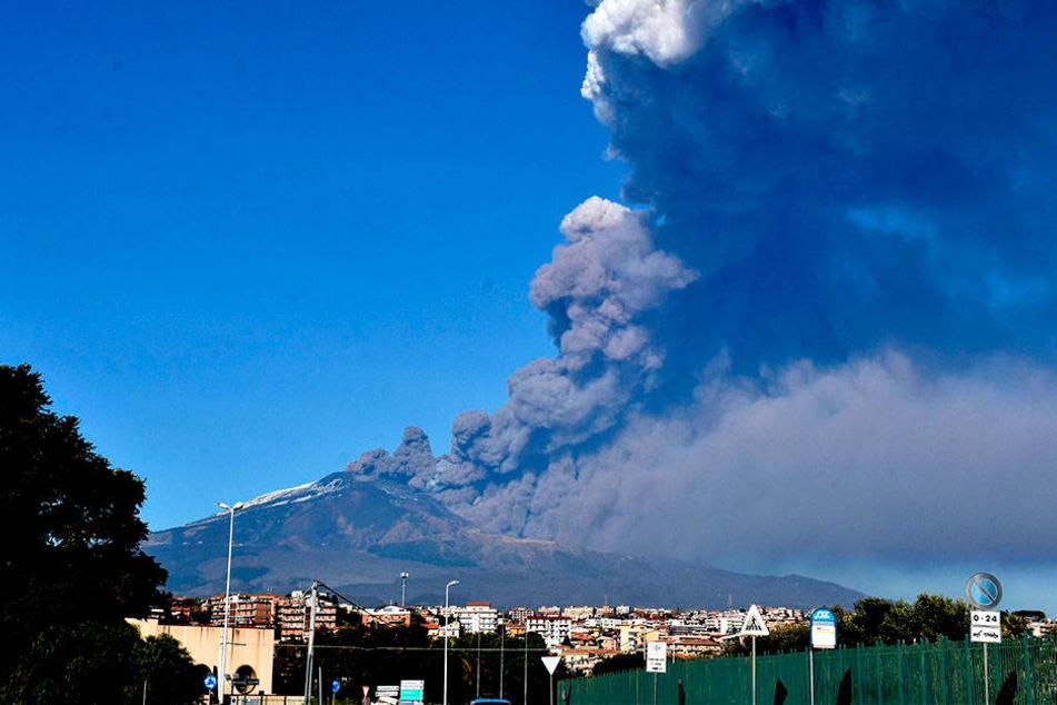 Immer wieder kommt es am Vulkan Ätna zu Eruptionen.
