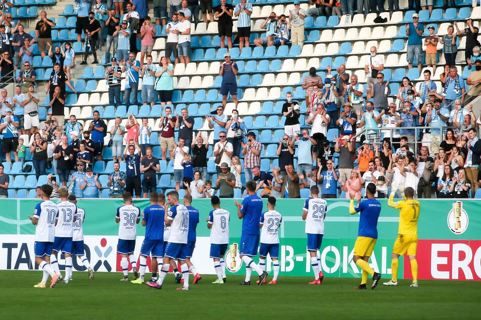 Nur 3095 Fans waren am Sonntag im Chemnitzer Stadion.