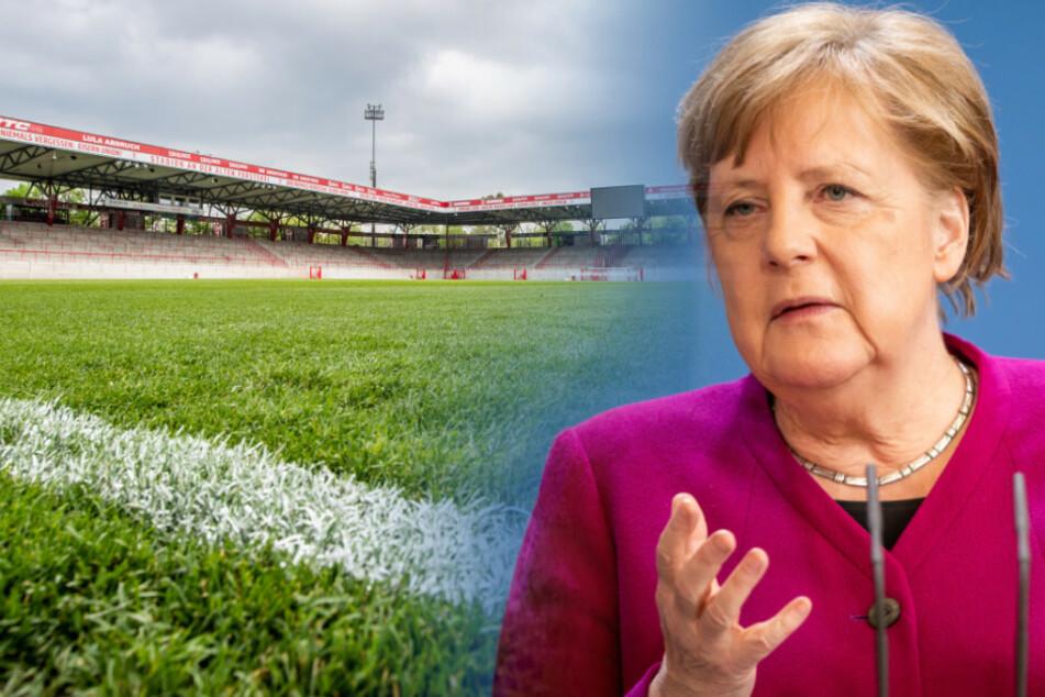 Angela Merkel spricht mit den Ministerpräsidenten auch über die Bundesliga.