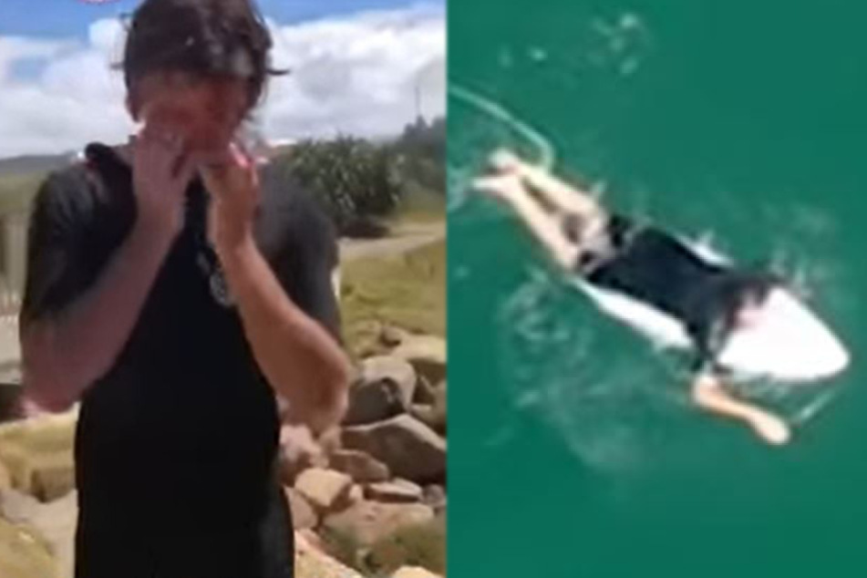 Surfer is shocked when he sees what was following him in the water