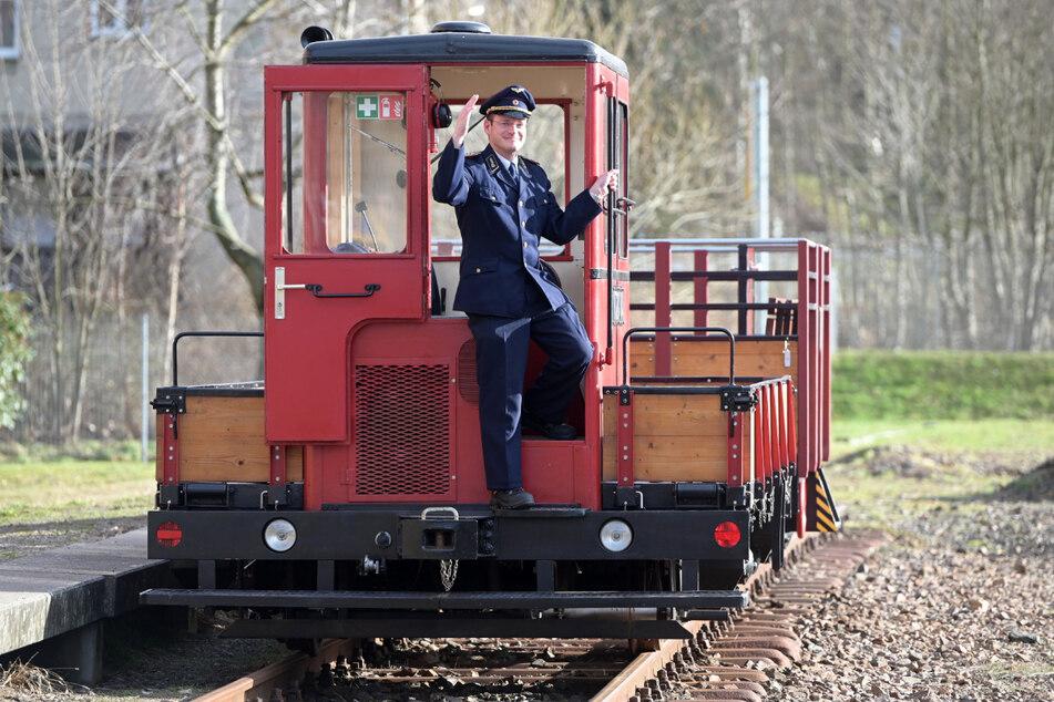 Zugführer Martin Bauch freut sich schon auf Fahrgäste zum Saisonstart.