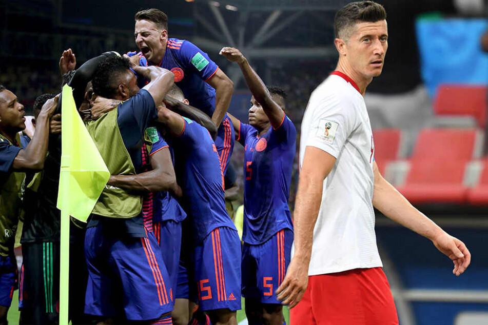 WM-Aus: Polens Lewandowski geht im Bayern-Duell gegen Kolumbiens James unter!