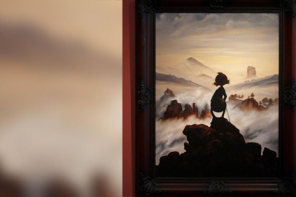 """""""Der (Enten)Wanderer über dem Nebelmeer"""" ist eines der 140 Kunstwerke, die bis Ende April 2020 im Vogtlandmuseum zu sehen sind."""