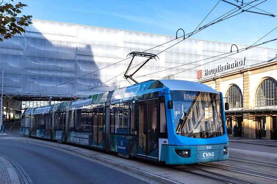 Die neue Linie 3 der CVAG (im Bild) und die drei City-Bahn-Linien 13, 14 und 15 beförderten in den ersten beiden Quartalen 2018 zwischen Hauptbahnhof und Technopark mehr als 1,3 Millionen Fahrgäste.