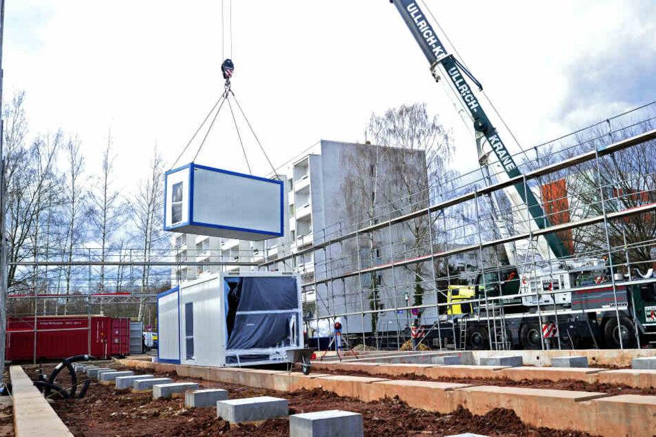Unterricht im Container: Wegen steigender Schülerzahlen greift die Stadt Chemnitz zu ungewöhnlichen Maßnahmen.