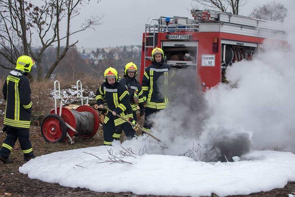 Die Feuerwehr rückte mehrfach an die Bleiche aus und löschte das brennende Gestrüpp.