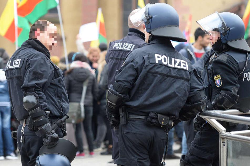 In Frankfurt kommt es regelmäßig zu kurdischen Demonstrationen (Archivbild).