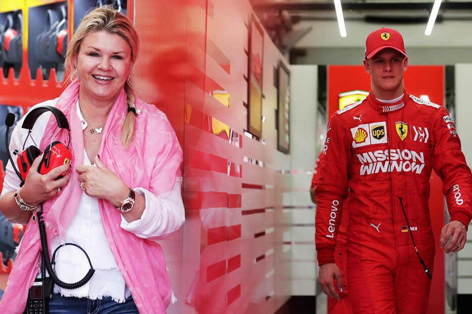 Corinna strahlt: Wieder sitzt ein Schumacher am Steuer eines Formel-1-Ferrari!