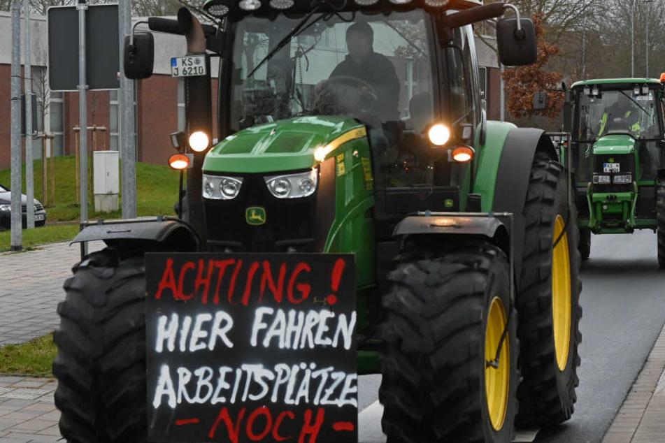 Die baden-württembergischen Landwirte wollen gegen das Agrarpaket der Bundesregierung protestieren. (Archivbild aus Hessen)