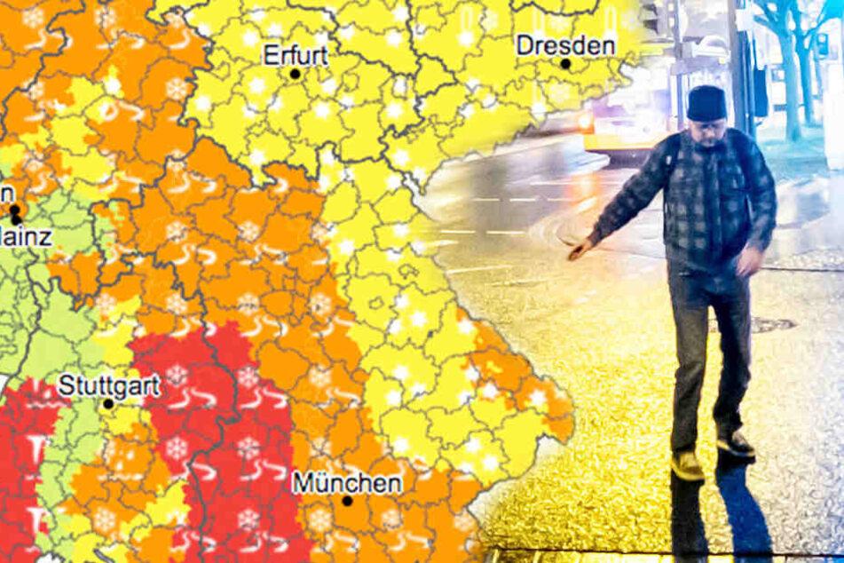 Glatte Straßen in NRW - Schnee lässt Flusspegel ansteigen