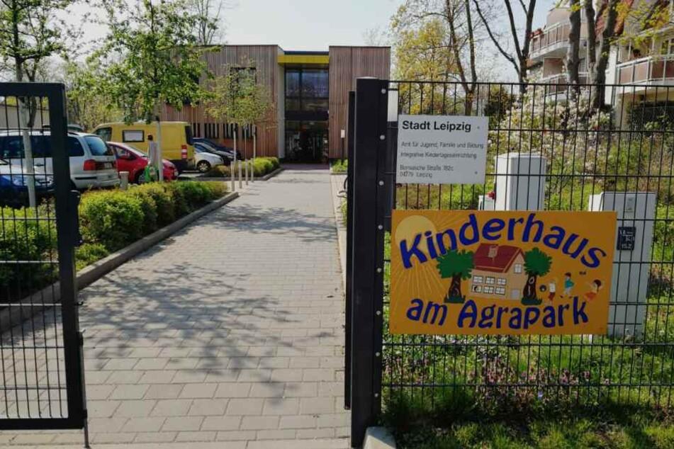"Betroffen war das ""Kinderhaus am Agrapark"" im Stadtteil Dölitz-Dösen."