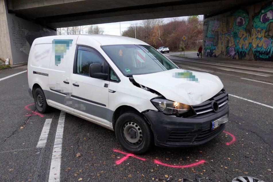 Der VW war dem Renault in die Seite gefahren.