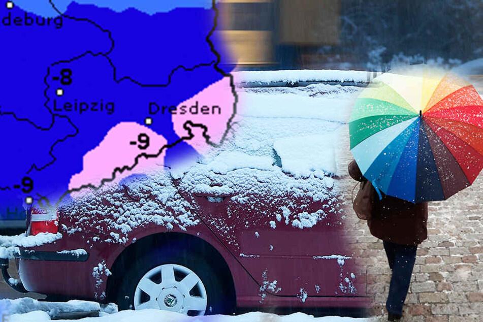 Am Wochenende müssen sich die Menschen in Sachsen noch einmal richtig warm anziehen.
