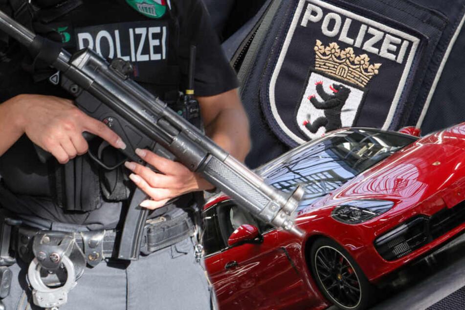 Die Berliner Polizei vereitelte den Diebstahl eines Porsches! (Bildcollage)