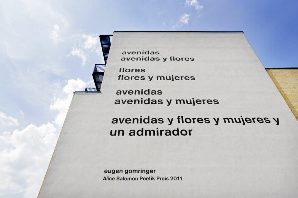 Dieses Gedicht von Eugen Gomringer sorgte ebenfalls für Diskussionen.