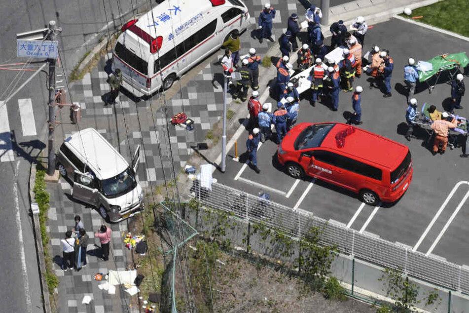 Blick vom Hubschrauber auf den Unfall-Ort.