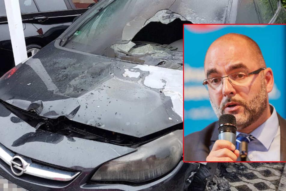 Auto von AfD-Angeordneten abgefackelt: War es ein Brandanschlag?