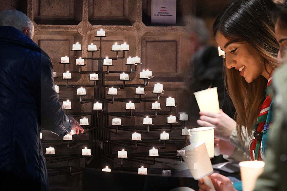 Das Friedenslicht aus Bethlehem wird in der Gedächtniskirche angezündet und verteilt.