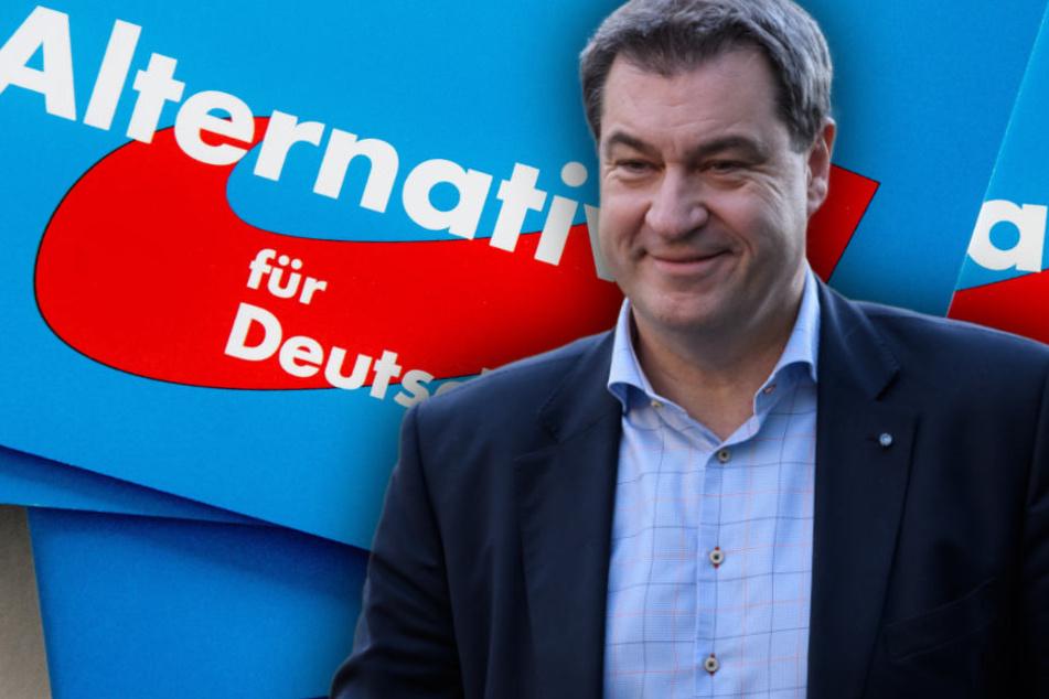 CSU-Chef Markus Söder findet klare Worte gegen Rechts: AfD auf dem Weg zu einer neuen NPD