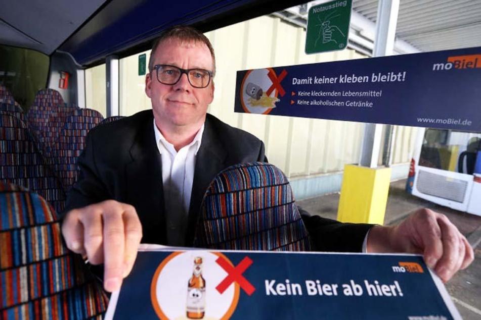 Thomas Preuth bestätigt, dass die meisten Fahrgäste das Alkoholverbot begrüßen.