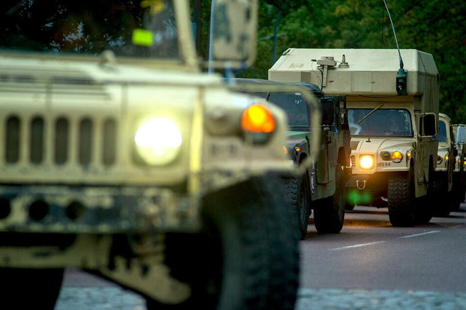 Ein Konvoi der US-Armee ist unterwegs durch Deutschland (Archivbild).