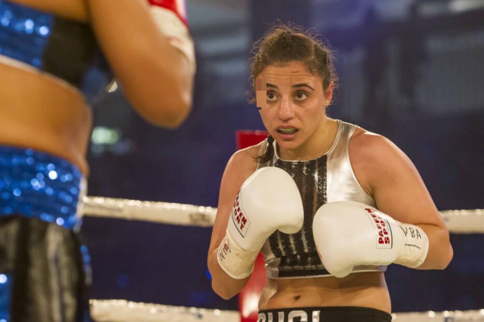 Boxerin Susi Kentikian ist vom harten Kampf gezeichnet.