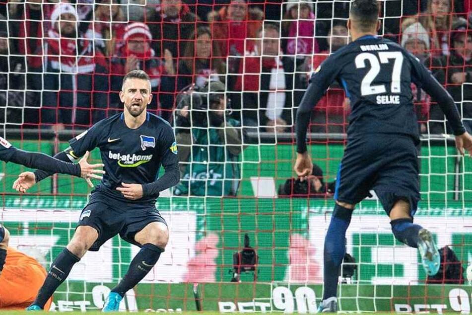 jubeln Selke (re..) und Vedad Ibisevic auch gegen Eintracht Frankfurt?