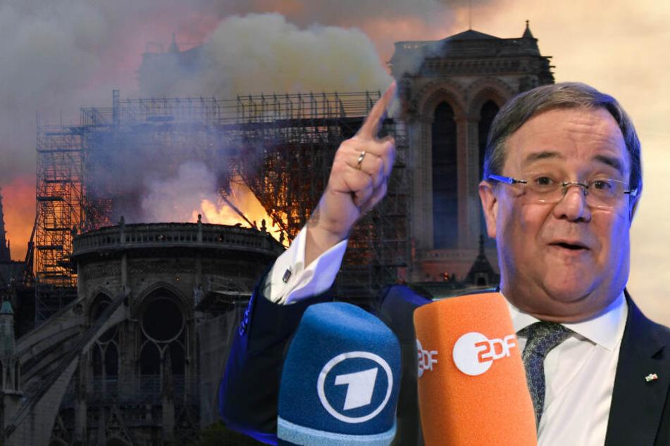 Laschet empört: Alle Augen sind auf Notre-Dame gerichtet und die ARD zeigt Tierdoku