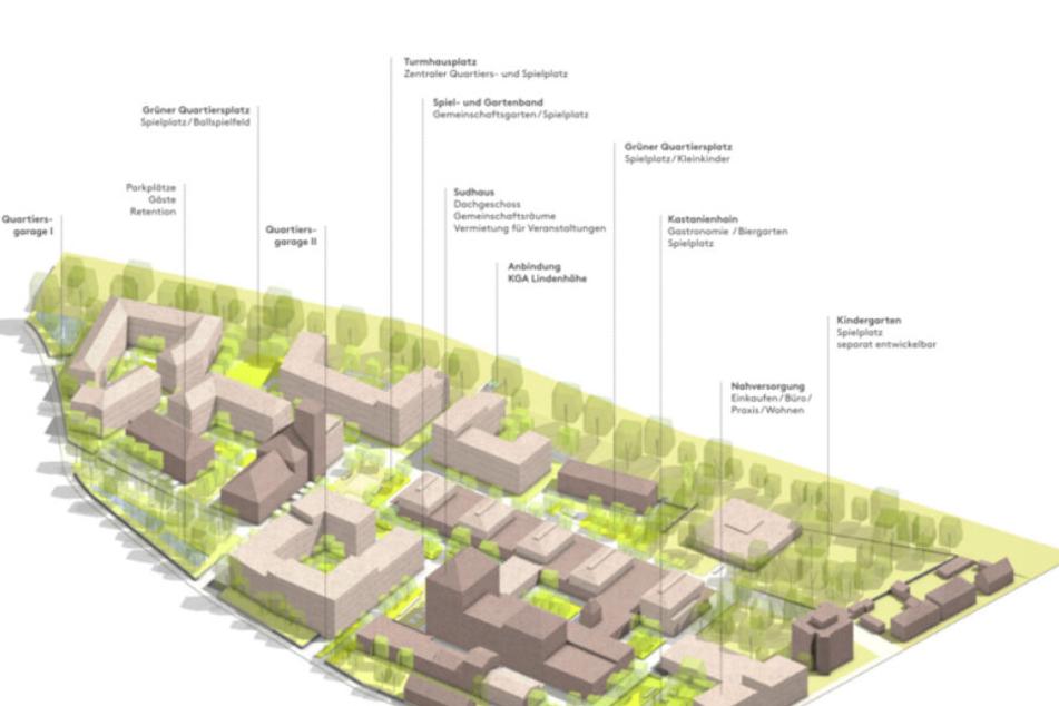 Das neue Viertel soll Platz für insgesamt 350 Wohnungen bieten.