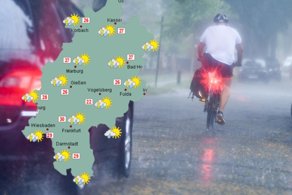 Derb Regen bleibt bis zum Wochenstart. (Symbolfoto)