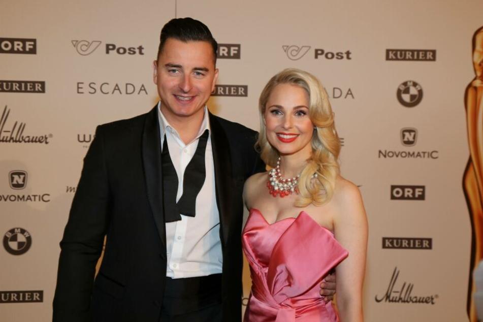 Andreas Gabalier und Silvia Schneider bei der Romy Gala in Wien 2017.