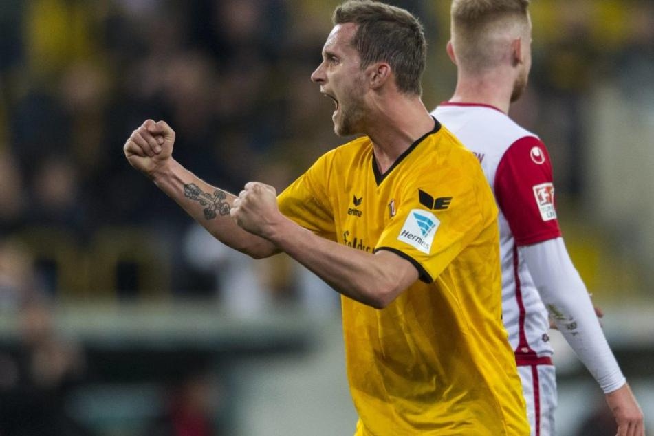 Manuel Konrad konnte gegen Lautern seinen ersten Dynamo-Treffer bejubeln.