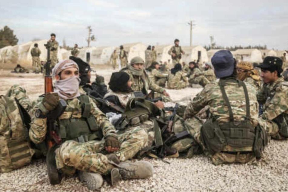 Türkische Soldaten besetzen Teile von Nordsyrien.