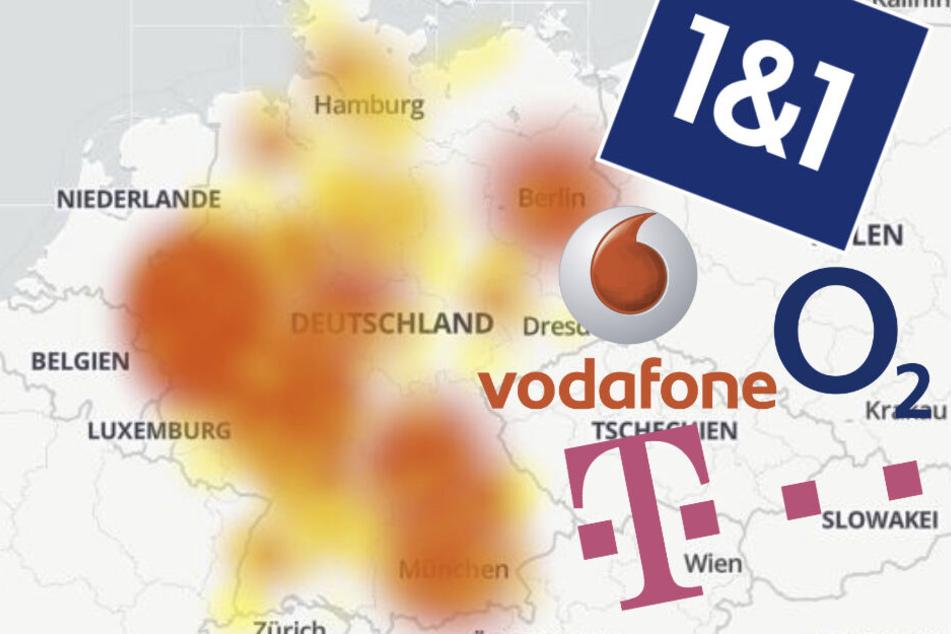 Bundesweite Störungen bei Telekom, Vodafone, 1&1 und O2