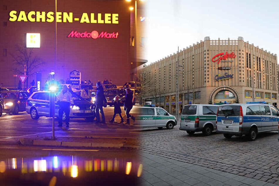 Bombendrohungen in Chemnitz: 10.000 Euro vorläufige Einsatzkosten