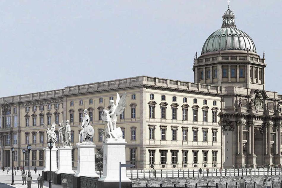 So soll das Barockschloss nach dem Wiederaufbau aussehen, der 2002 beschlossen wurde.