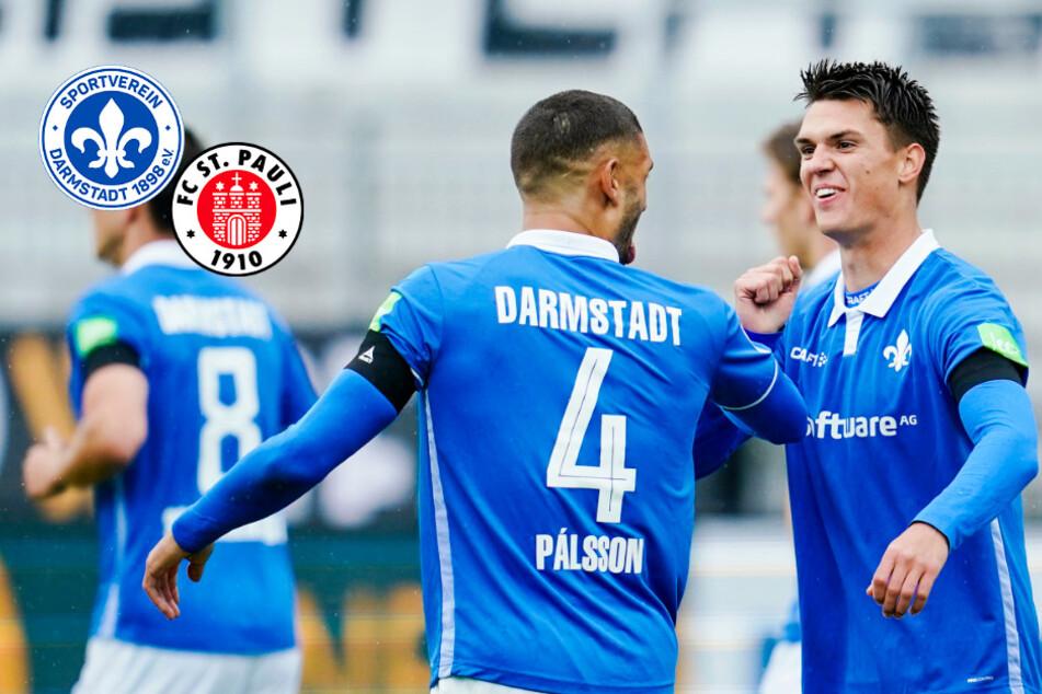 SV Darmstadt 98 fegt St. Pauli weg! Honsak, Stark, Mehlem und Palsson schießen Lilien zum Sieg