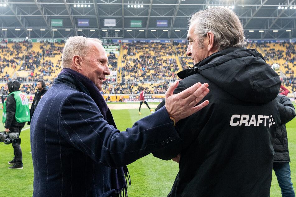 Helge Leonhardt und Ralf Minge. Nicht erst seit gestern dicke Freunde.