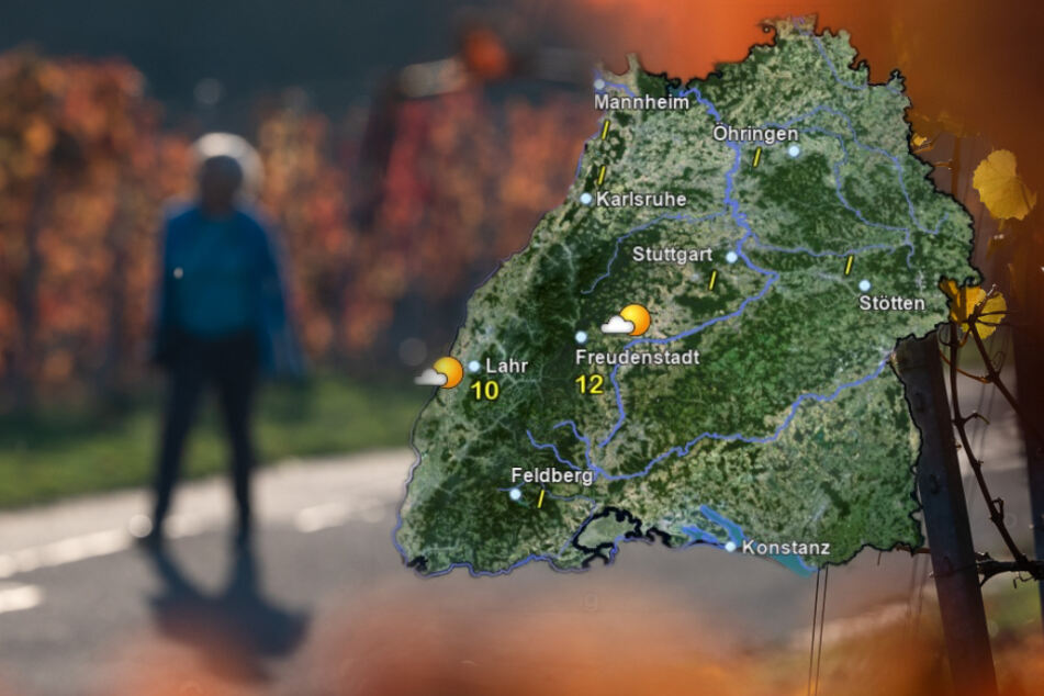 So wird das Wetter am Mittwoch in Baden-Württemberg. (Fotomontage)