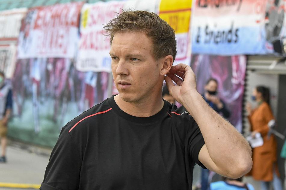 Trainer Julian Nagelsmann von Leipzig kann sich freuen: Wahrscheinlich kann seine Mannschaft bald wieder vor Publikum spielen!