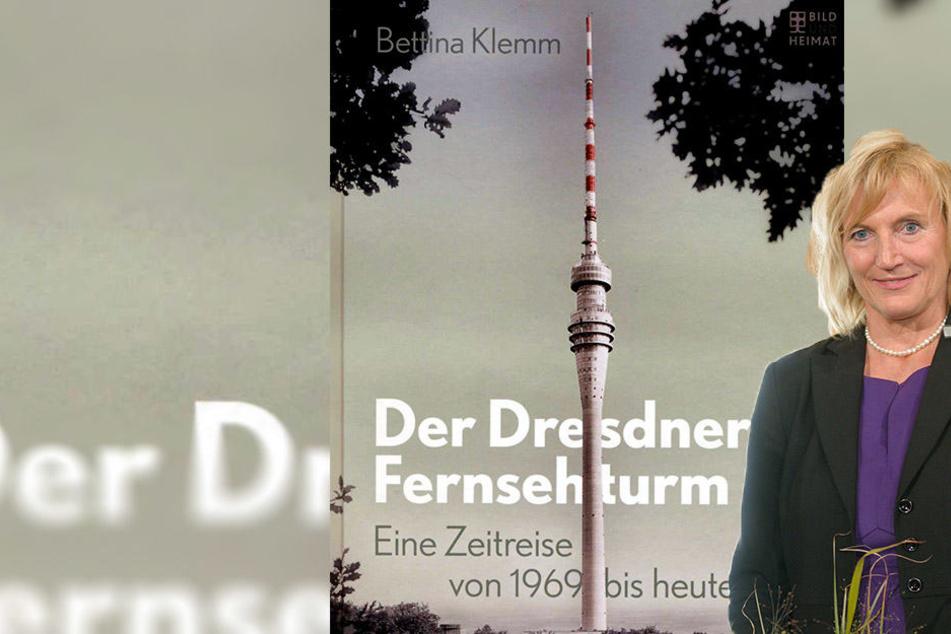 """In ihrem Buch erzählt Bettina Klemm die Geschichte des Dresdner Fernsehturms- in kaum bekannten Bildern schildert sie die """"Lebensphasen"""" des Bauwerks."""