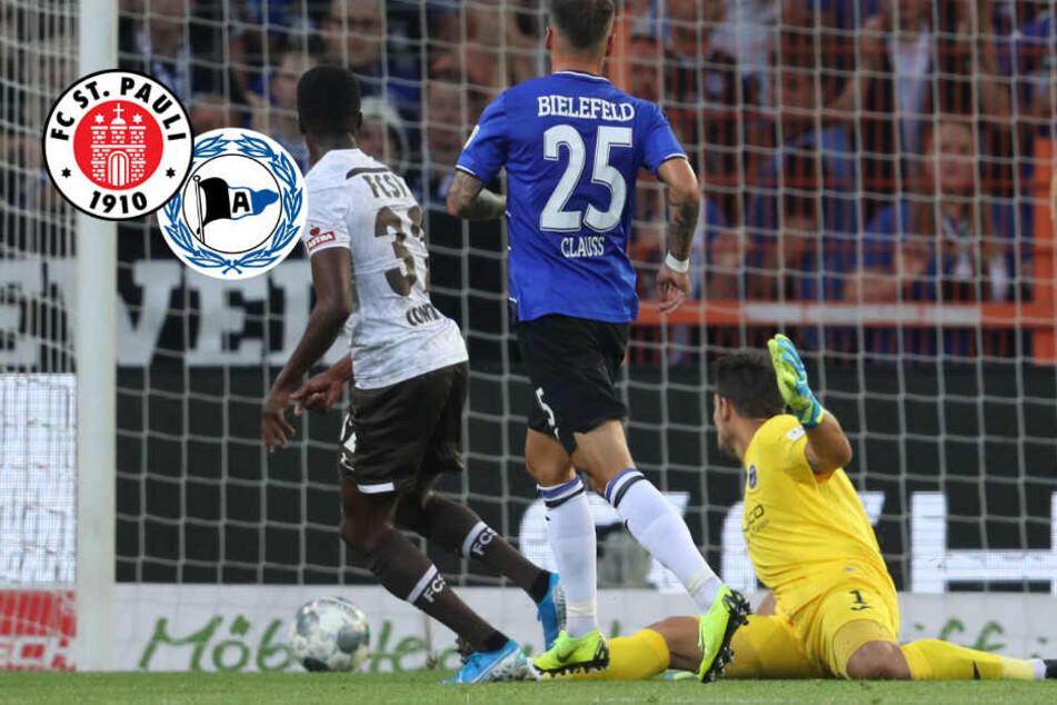 90. Minute! Bielefeld rettet hochverdienten Punkt gegen St. Pauli