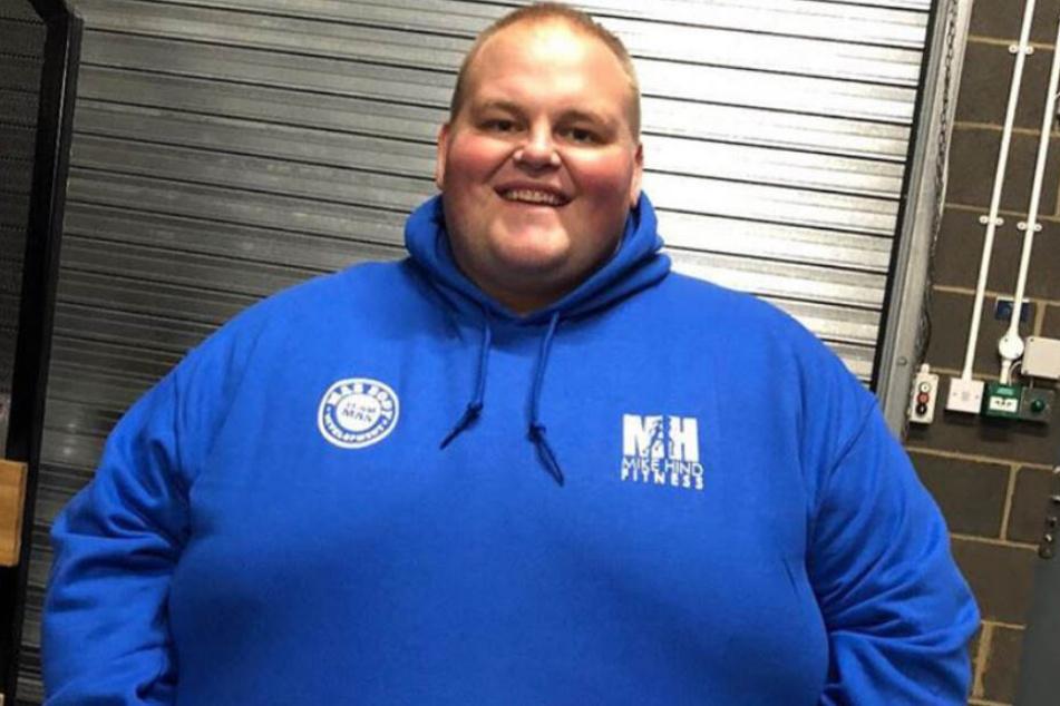 """Darren """"Dibsy"""" McClintock (28) zu Zeiten seiner 254 Kilo."""
