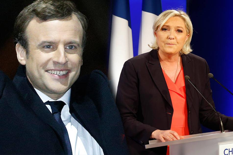 Jubel bei Macron, Enttäuschung bei Le Pen: Der Franzose gewann die Wahl mit 66 Prozent der Stimmen.