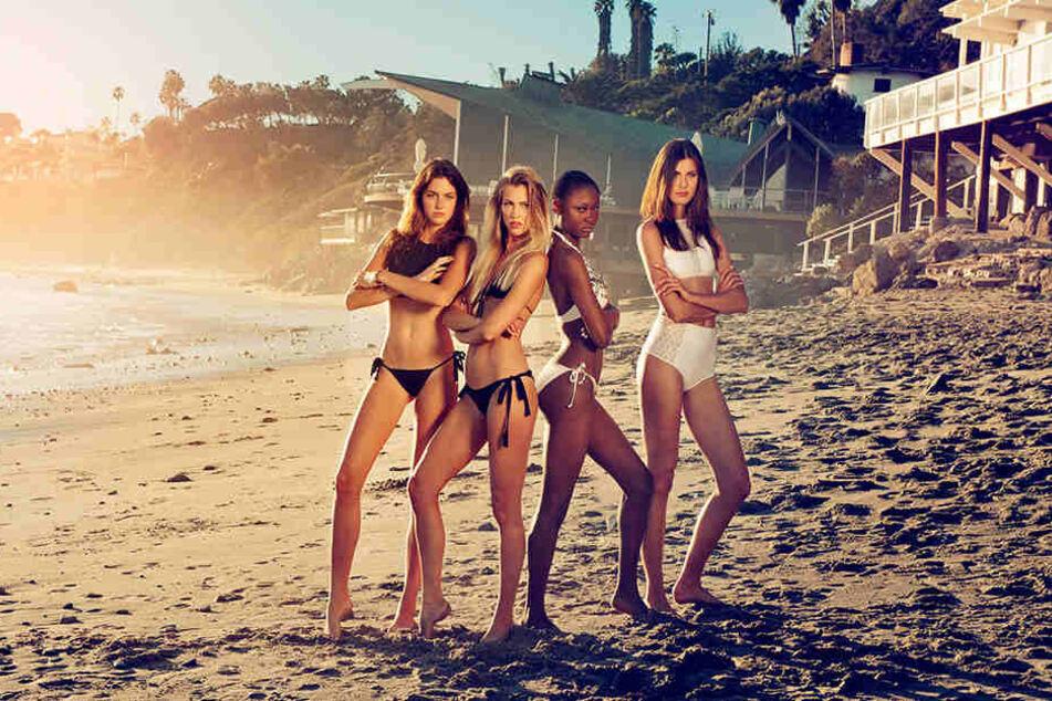 Das sind die Finalistinnen: Celine, Serlina, Leticia, Romina (v.l.)